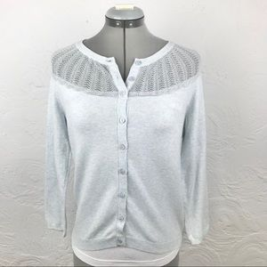 Anthro Sparrow Lace Collar Cashmere Blend Sweater